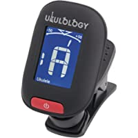 Ukulology: Clip-on Ukulele Tuner (includes Battery & Instructions) (Black)