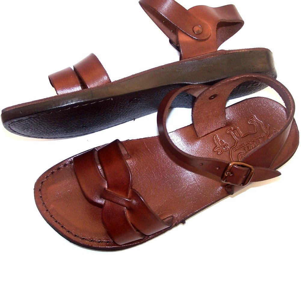 Unisex Adults/Children Genuine Leather Biblical Sandals / Flip flops (Jesus -... by Holy Land Market (Image #2)
