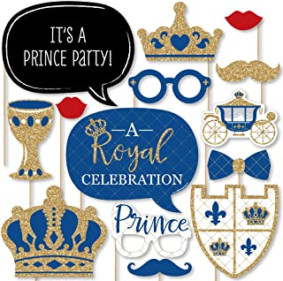 product image for Big Dot of Happiness Royal Prince Charming - Baby Shower or Birthday Party Photo Booth Props Kit - 20 Count