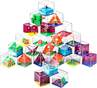 BOROK 24 Piezas Juegos de Habilidad Laberinto 3D Rompecabezas Brain Teaser Calendario Adviento Educativo Juguetes Puzzle para Niños y Adultos: Amazon.es: Juguetes y juegos