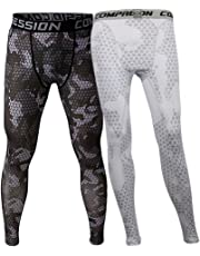 MagiDeal 2 Pcs Men Sports Gym Workout Compression Running Pants Base Layer Tight Leggings