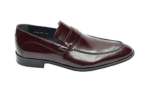MUGA 056-BOR - Mocasines de Piel para hombre Rojo rojo: Amazon.es: Zapatos y complementos