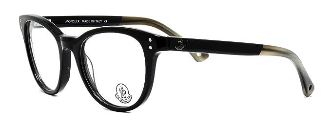 98f9245e3 Amazon.com: Eyeglasses Moncler MC029 V01 shiny black frame Size:51 ...