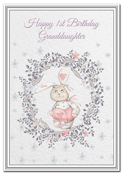 Tarjeta de felicitación de primer cumpleaños para nieta ...