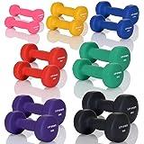 LCP Neopren Kurzhanteln Gymnastik Gummi Gewichte Soft Grip Set in 10 Gewichtsstufen