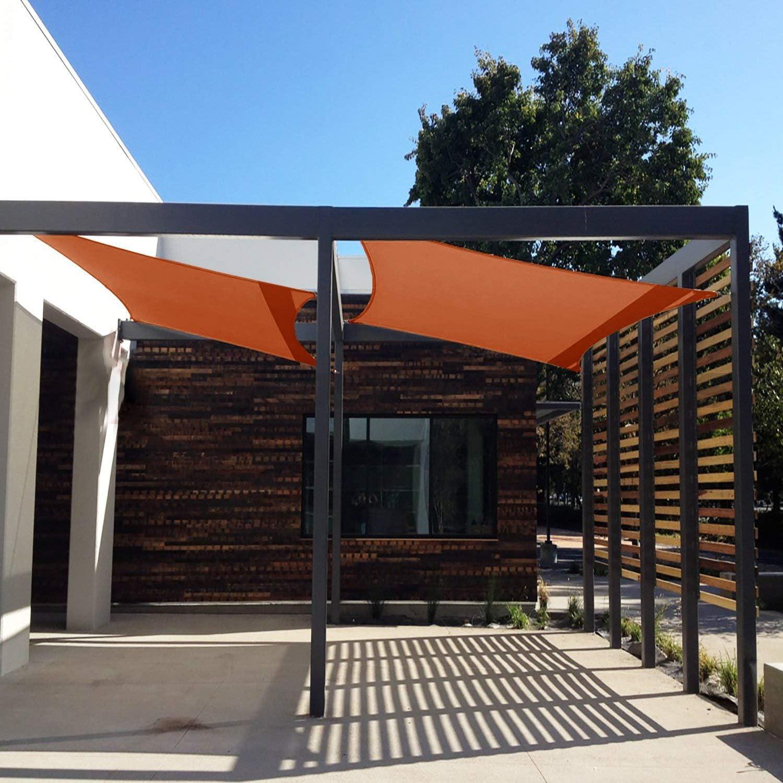 CHENG Toldo Parasol 6x6.5m, Toldo para jardín, 90% Bloque UV, Tela Resistente al Agua, para Patio y Actividades al Aire Libre - Naranja: Amazon.es: Hogar