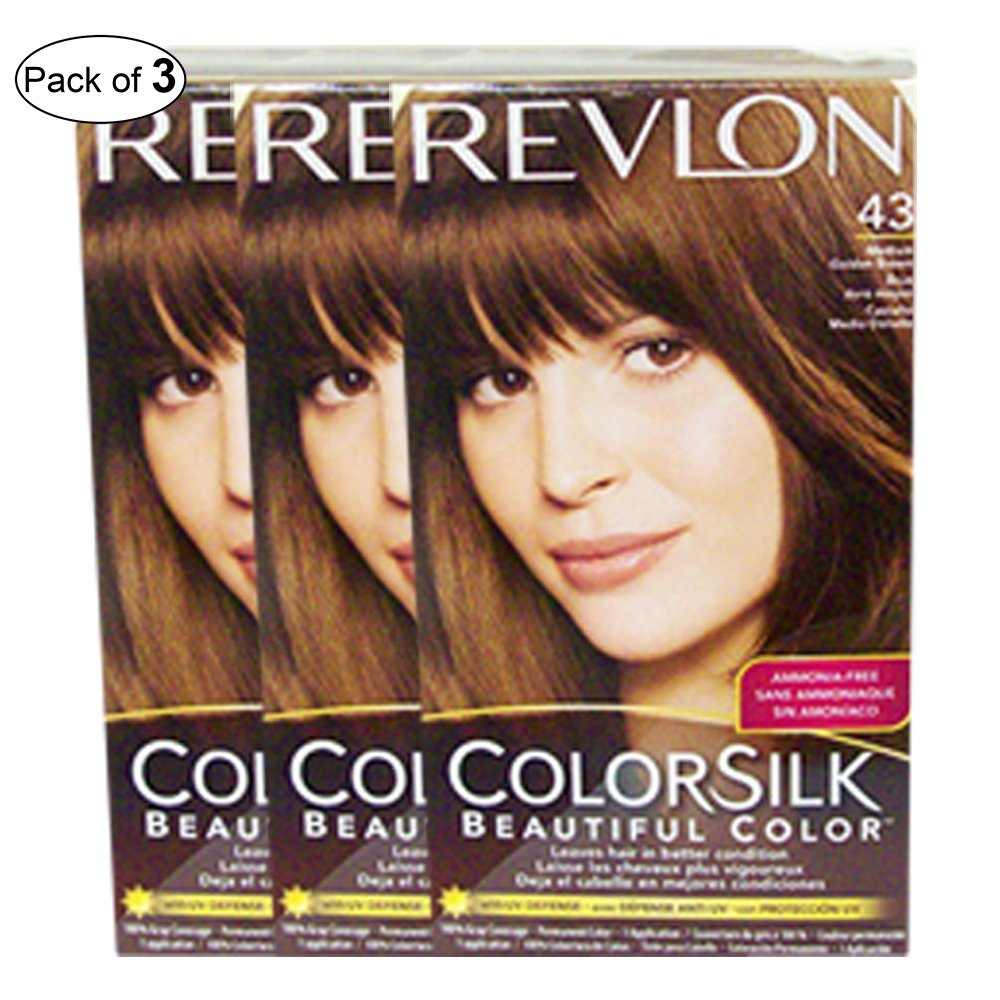Revlon Hair Color Medium Golden Brown(43) (Pack of 3)