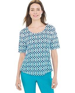 0c22eb4f562c Chico s Women s No-Iron Linen Loop-Back 3 4 Sleeve Tunic at Amazon ...