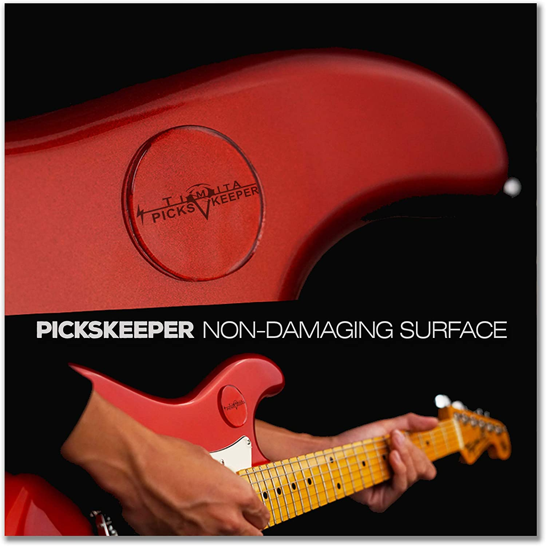 3 Picks Keeper 10 Pcs Guitar Picks Accesories Pick Holder Easy to Stick on Guitar Suitable for Paste on Any Shape of Pick Pickholder for Acoustic Guitar Bass Ukulele
