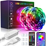 USB LED Light Strips for Bedroom, 32.8ft/10m Color Changing Strip Lights, Remote and App Control with Music Sync, Smart Circu