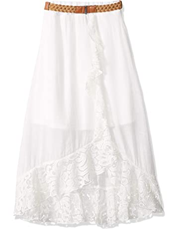 0dd087dac Amy Byer Girls' Big Ruffle Front Maxi Skirt