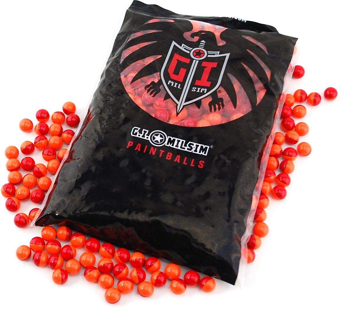 JT GI Splatmaster .50 Cal Biodegradable Low Impact Non-Toxic Paintball Ammo -.