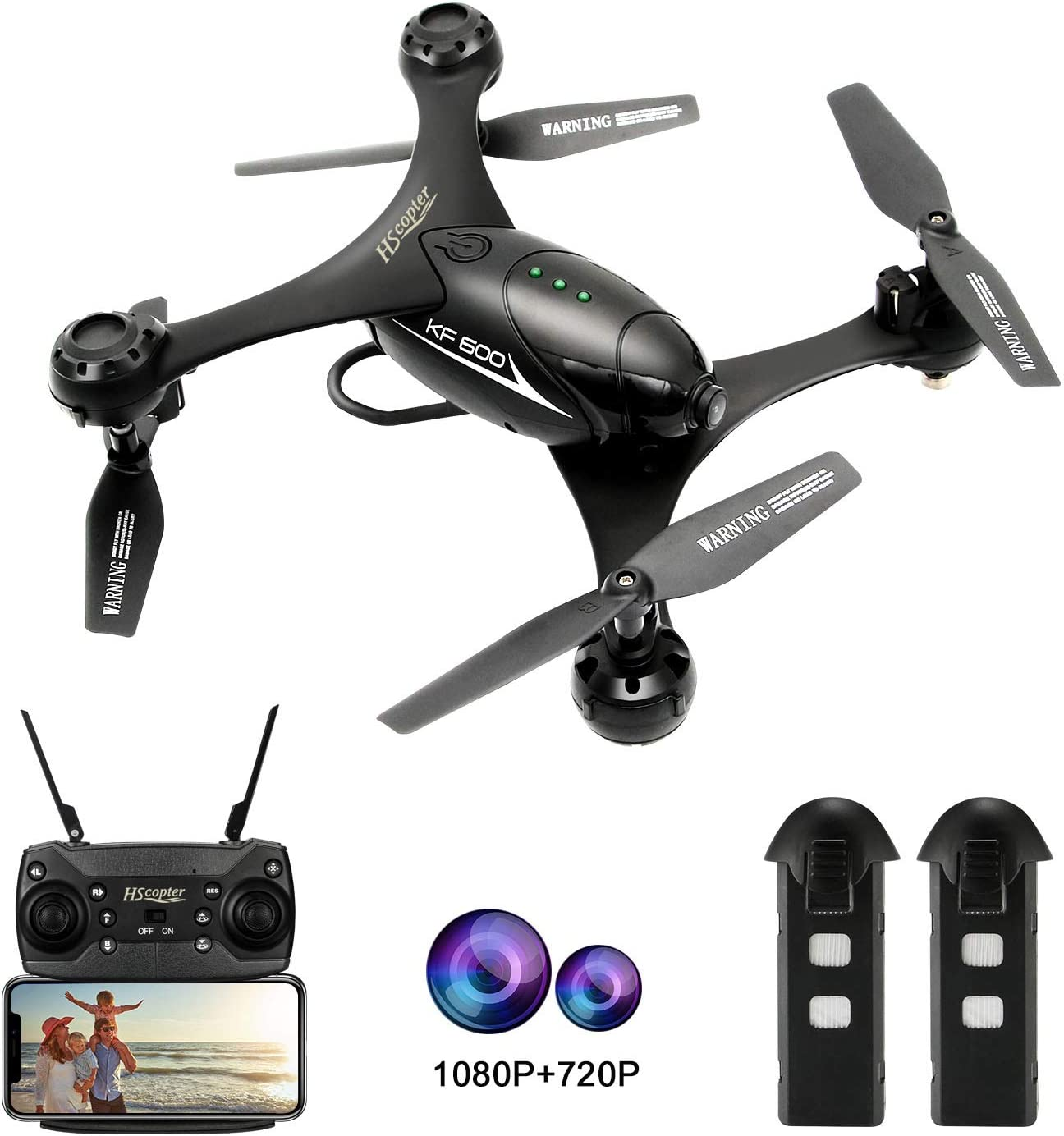 RC Drones with 1080P Camera Gravity Sensor FPV Quadcopter Headless One Key Return Quadcopter Speed Adjustment 20 Minutes Play Time Three Batteries Version Drones Toys