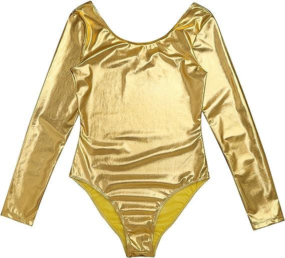 Freebily Body Maillot Cl/ásico de Danza Ballet Gimnasia para Mujer Chica Charol Estirable Invierno Oto/ño