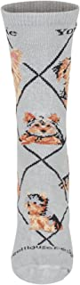 product image for Wheel House Designs Yorkshire Terrier Puppy Women's Argyle Socks