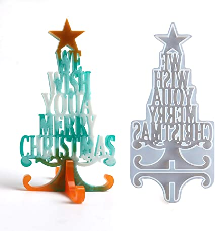 Christmas Tree Keychain Resin Silicone Mold for Epoxy Resin Crafts