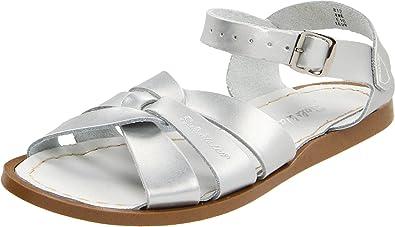 Salt Water Sandals Original Premium Kids Silver Leather 32 EU