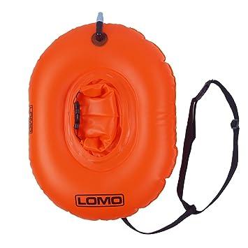 Lomo - Flotador de remolque para natación con bolsa de secado superior, color naranja: Amazon.es: Deportes y aire libre