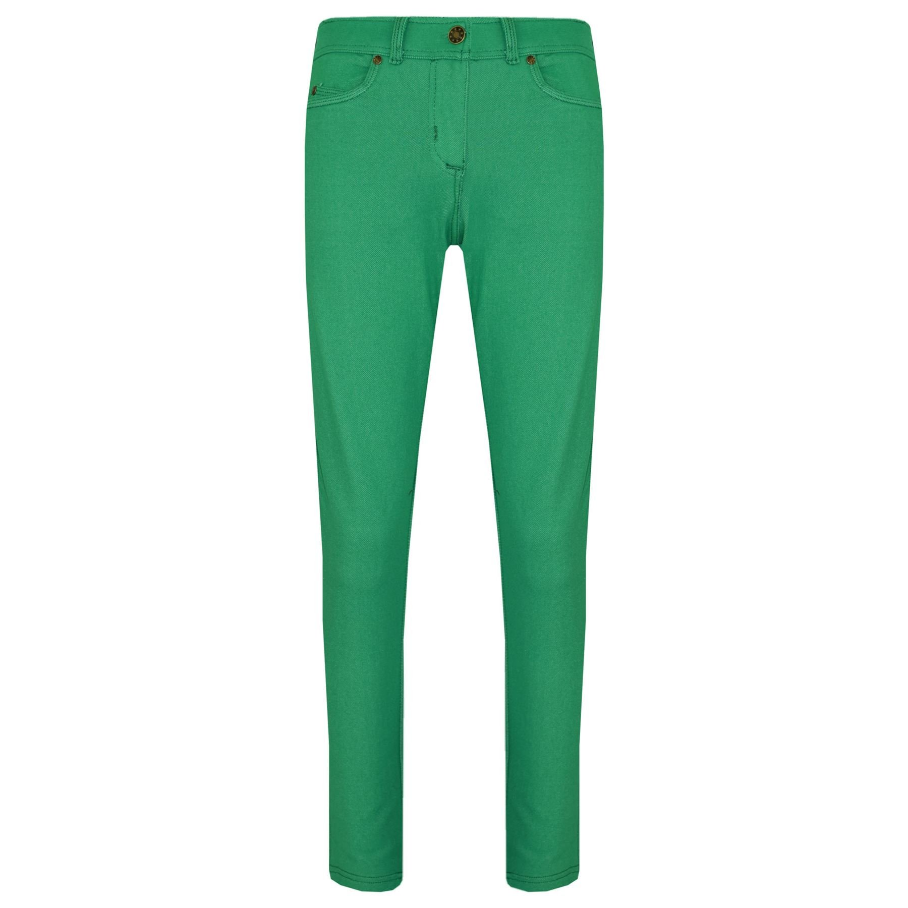 Kids Skinny Jeans Girls Stretchy Jeggings Fit Pants Coloured Trousers 5-13 Years