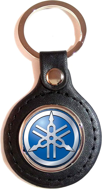 Schlüsselanhänger Kunstleder Sport Yamaha Logo Blau Koffer Rucksäcke Taschen