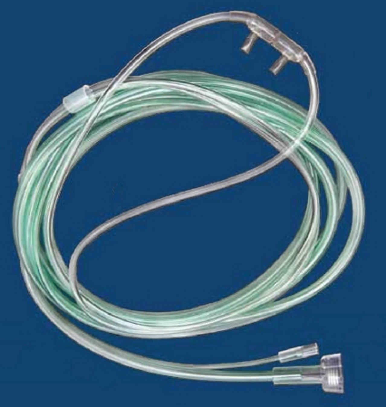 McKesson 16-0441 Co2 Sampling Nasal Cannula, Pediatric, O2/Co2 Sampling Line with Male Luer, 2'' Pigtail with Female Luer, 7' Length, 7' Length (Pack of 25)