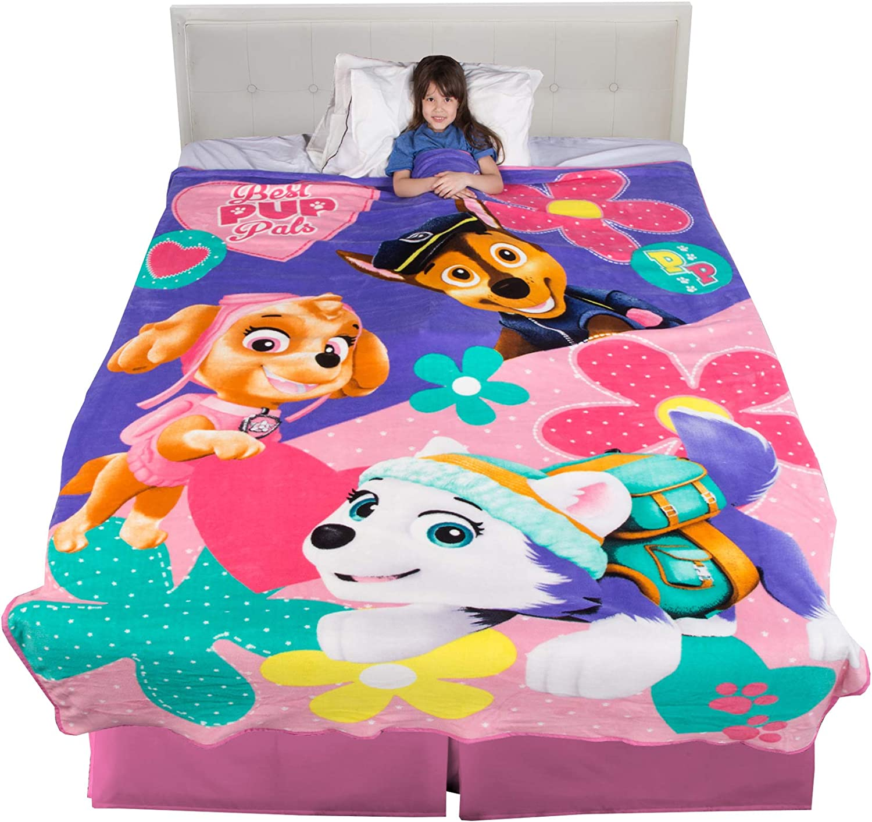 Paw Patrol Plush Blanket Full Size x 90 in. 62 in