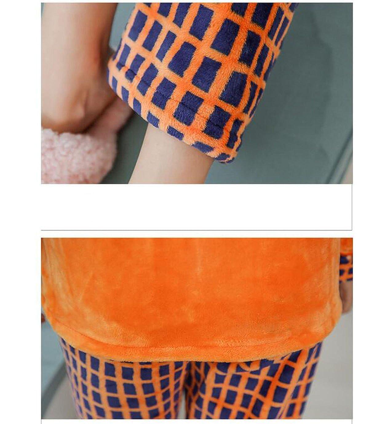 Pijamas Gruesas Pijamas Cálidos De Otoño E Invierno De Manga Larga De Dos Piezas De Dos Piezas Para El Hogar, Yellow-M: Amazon.es: Ropa y accesorios