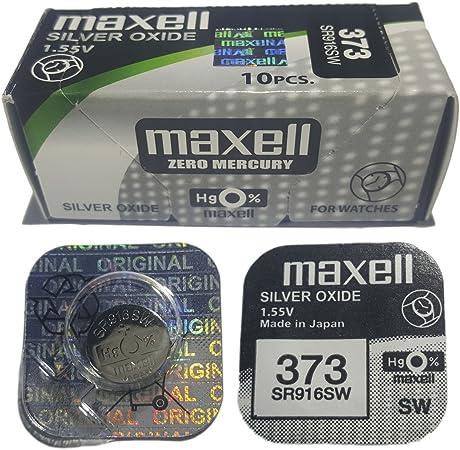 Original 10 X Batterie Maxell 373 Sr916sw 1 55 V Silber Elektronik