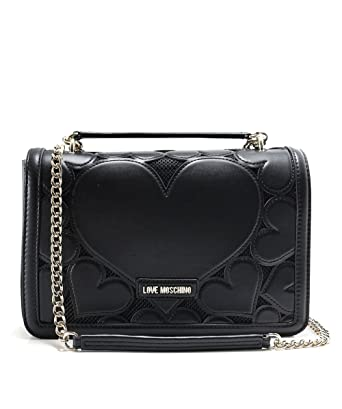 4066dd14ef Love Moschino Chain Heart Black One Size: Amazon.co.uk: Clothing