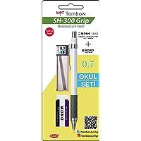 Tombow SH-300 Grip Mekanik Kurşun Kalem, 0, 7mm, Okul Seti Beyaz