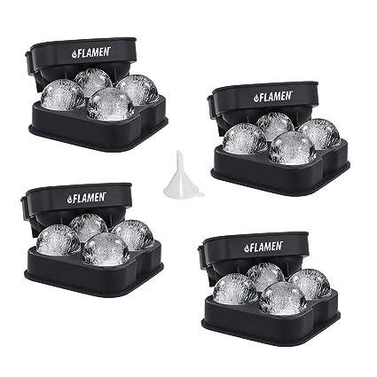 PREMIUM Flamen Molde fabricande de bolas de hielo Rápido y Fácil Liberación - Negro Flexible Silicona