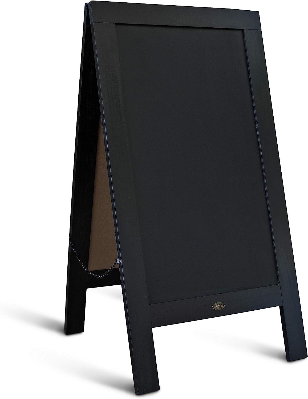 Rustic Vintage Black Wooden A-Frame Chalkboard / Sidewalk Chalkboard Sign / Large 40