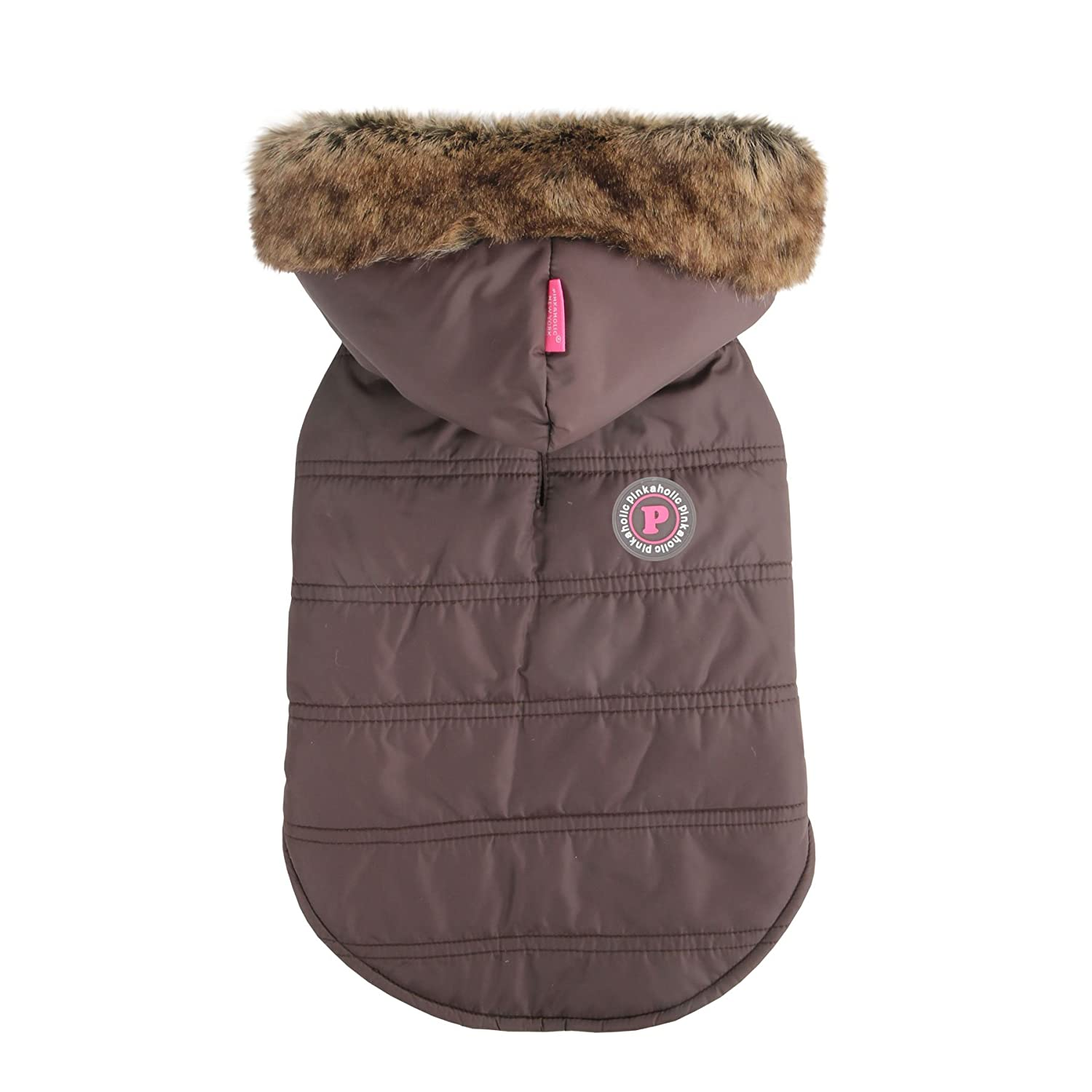 Pink Small Pinkaholic New York Relic Hooded Winter Dog Jacket