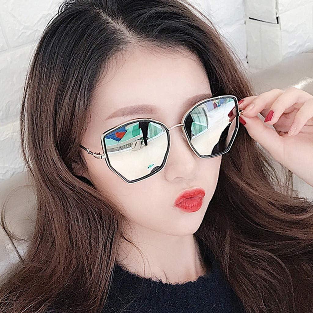KUDICO Unisex Sonnenbrille Gro/ßer Rahmen Polarisierte UV Schutz Brillen Mirrored Klassische Eyewear Frame Verspiegelt Brille