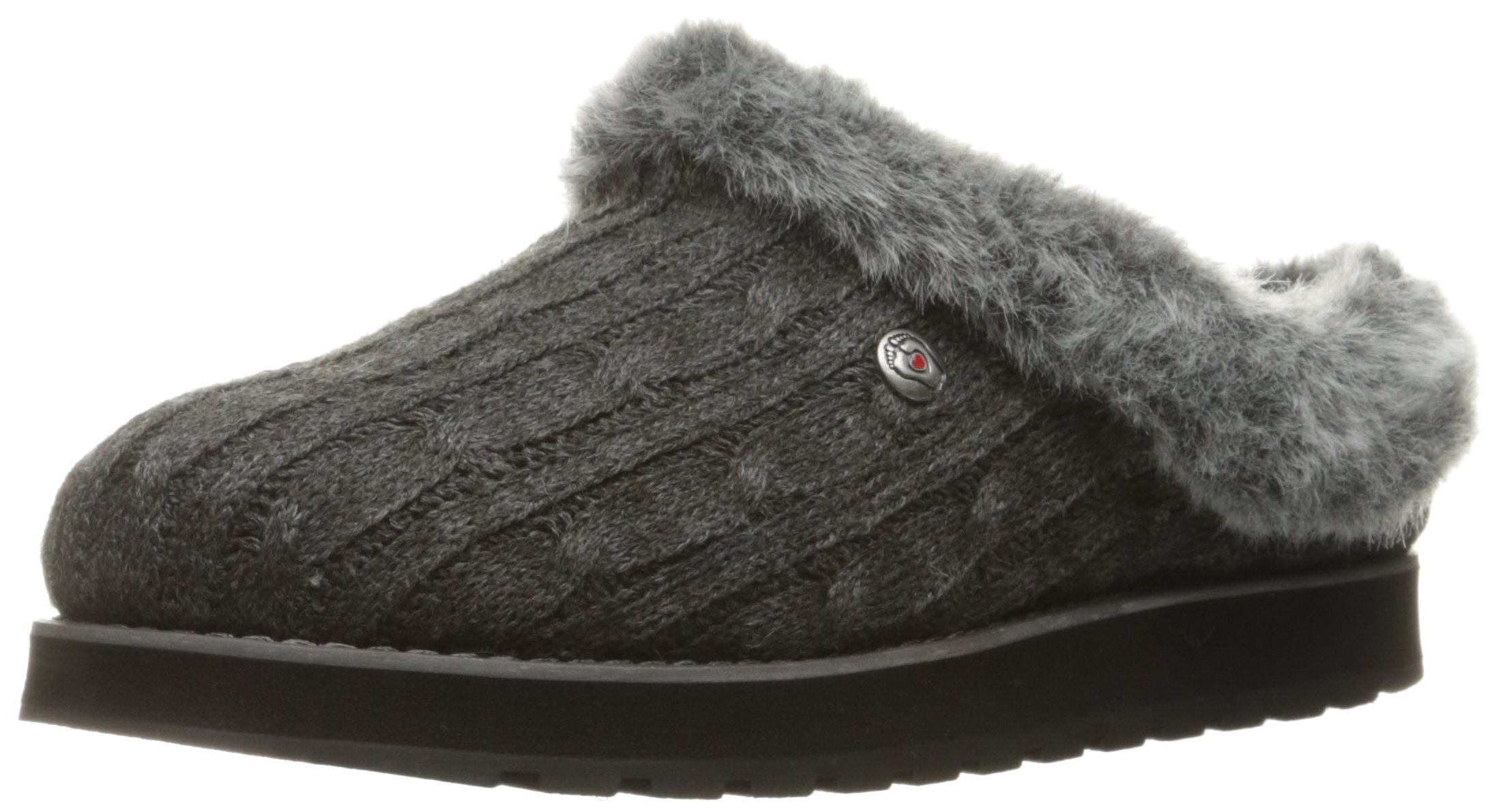 Skechers BOBS from Women's Keepsakes Ice Angel Slipper, Charcoal, 9 M US