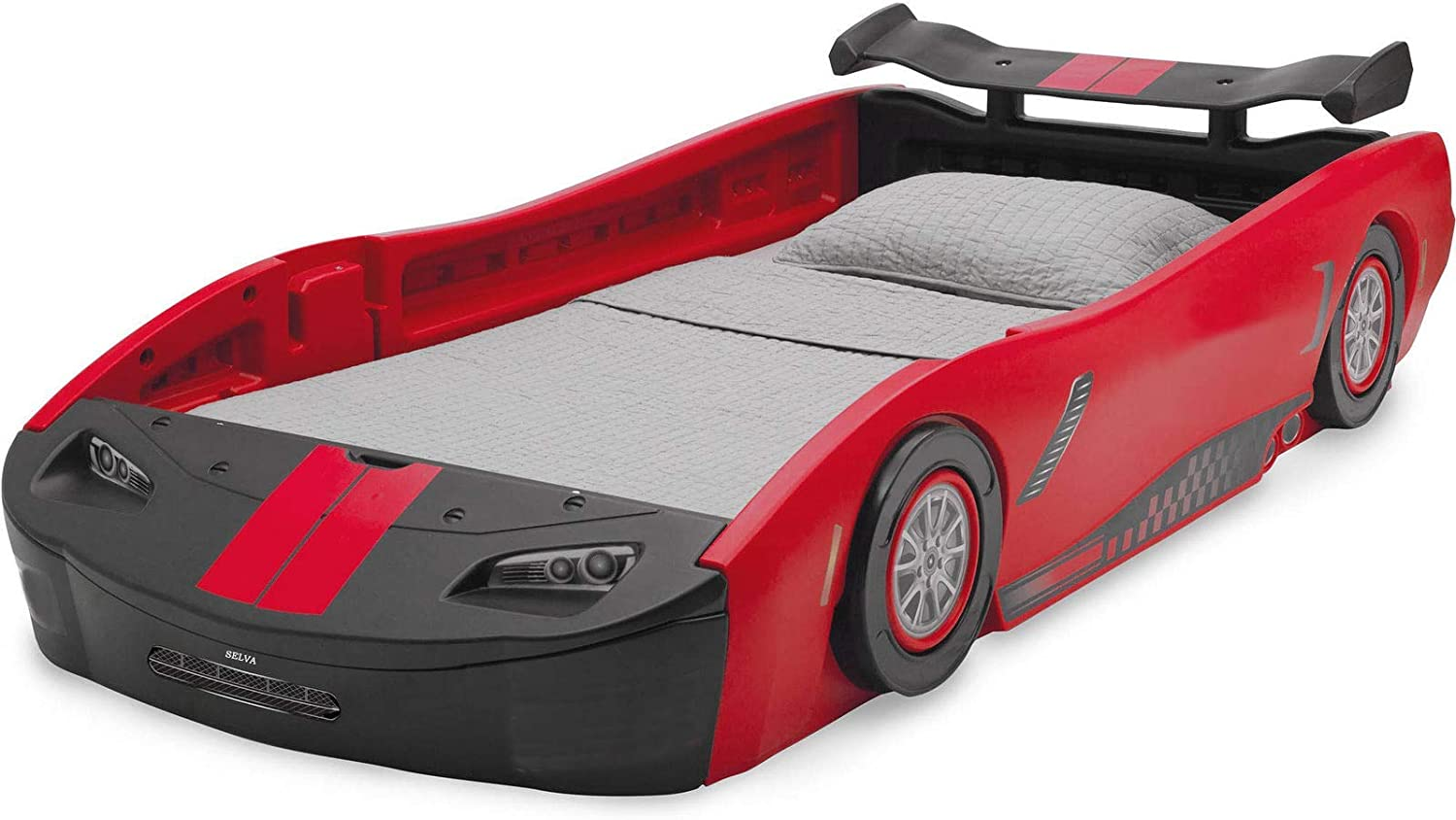 Amazon.com: Selva Twin Size Race Car Bed for Toddler Kid Big Boys