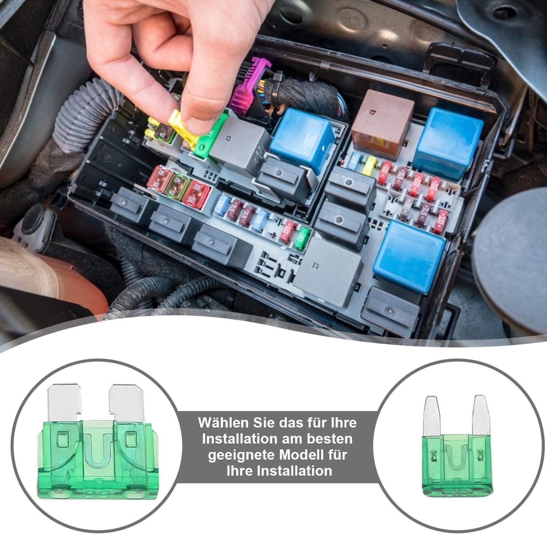 Rovtop 160 St/ück Mini Auto Sicherung und 160 St/ück Standard Auto Sicherungen KFZ Sicherungen Set mit Aufbewahrungskoffer 2A 3A 5A 7.5A 10A 15A 20A 25A 30A 35A 40A