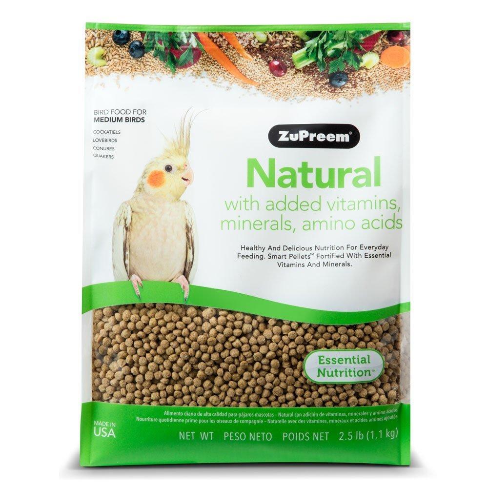 ZuPreem 230353 Natural Medium Bird Food, 2.5-Pound