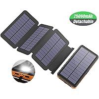 X-DRAGON Solar Powerbank 25000 mAh Solarladegerät con 4 Solarzellen, LED Taschenlampe y estanco batería externa para el teléfono móvil iPhone Huawei Smartphone …