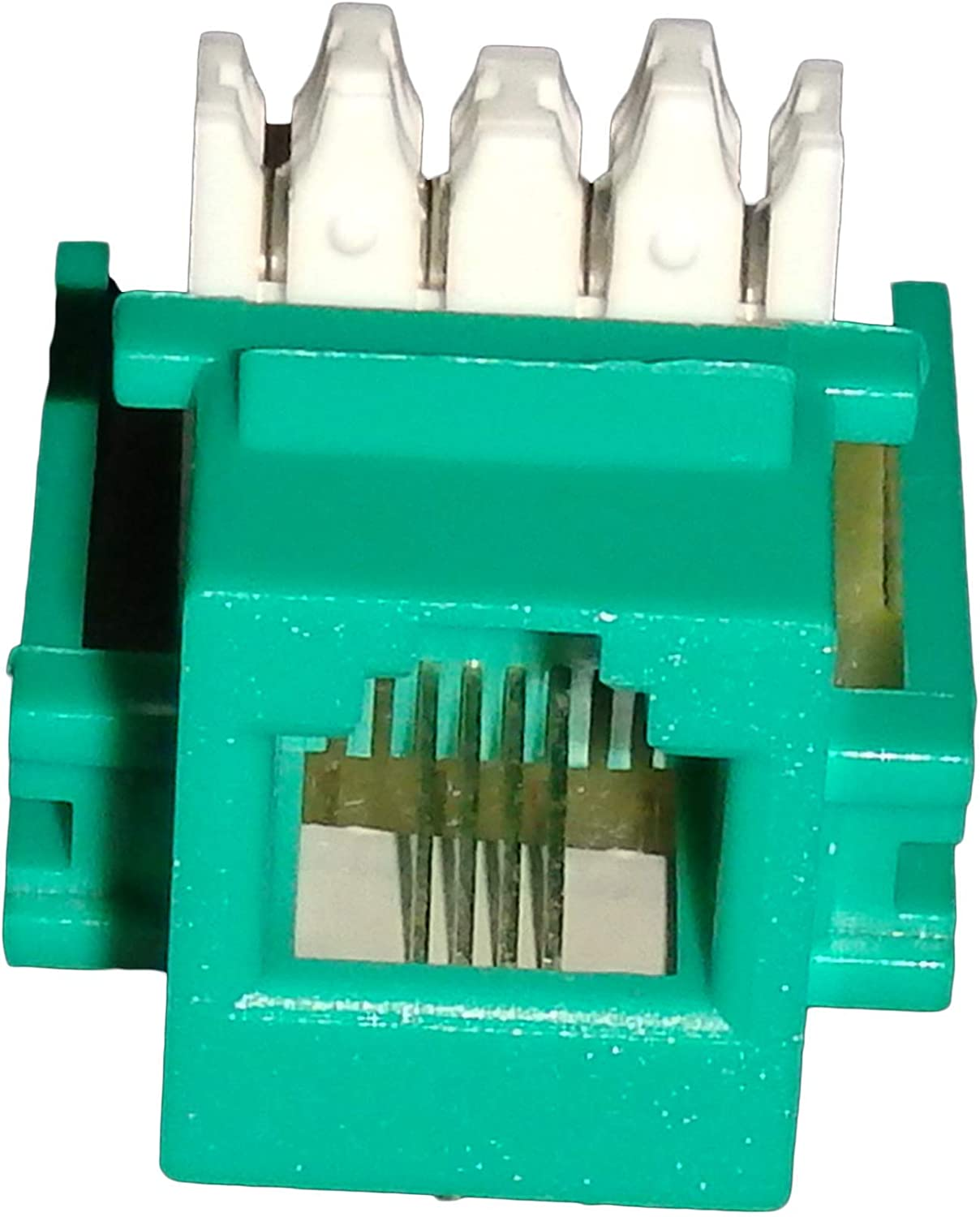 Green Cat3 Telephone Keystone Jack 110 RJ11 10 Pack