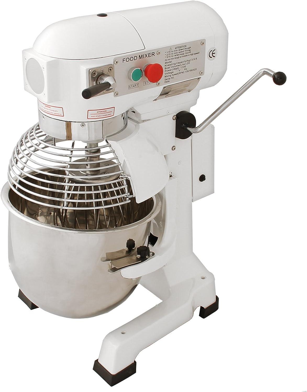KuKoo Robot Batidora 550W Amasadora Repostería Profesional Robot de Cocina Automática Multifuncional Planetaria Industrial 20 Litros Raspador de acero GRATUITO