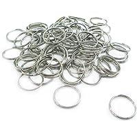 Wadoy 100 Stück Mini Schlüsselringe, 15 mm Durchmesser