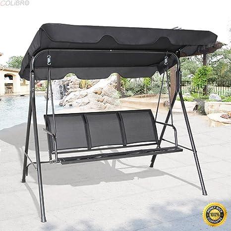 Amazon Com Colibrox Outdoor Patio Swing Canopy 3 Person Canopy