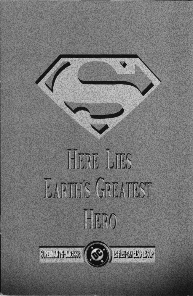 The Death of Superman Doomsday BLOOD Superman Dead T-shirt Mens Black/&White 3