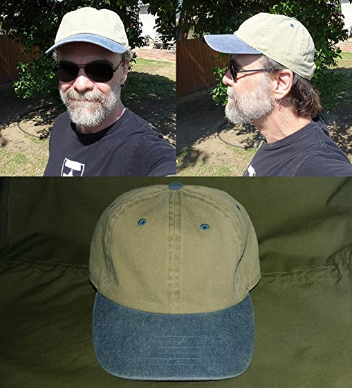 THE HAT DEPOT 100% Cotton Pigment Dyed Low Profile Six Panel Cap Hat Nice Cap for the Price