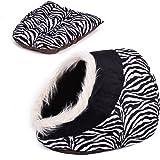 Maison luxe de chien Lit pour chien chiots Grotte Paniere chat Corbeille pour petit animal chaton lapin double usage s avec coussin épais 5 couleurs Zimbra
