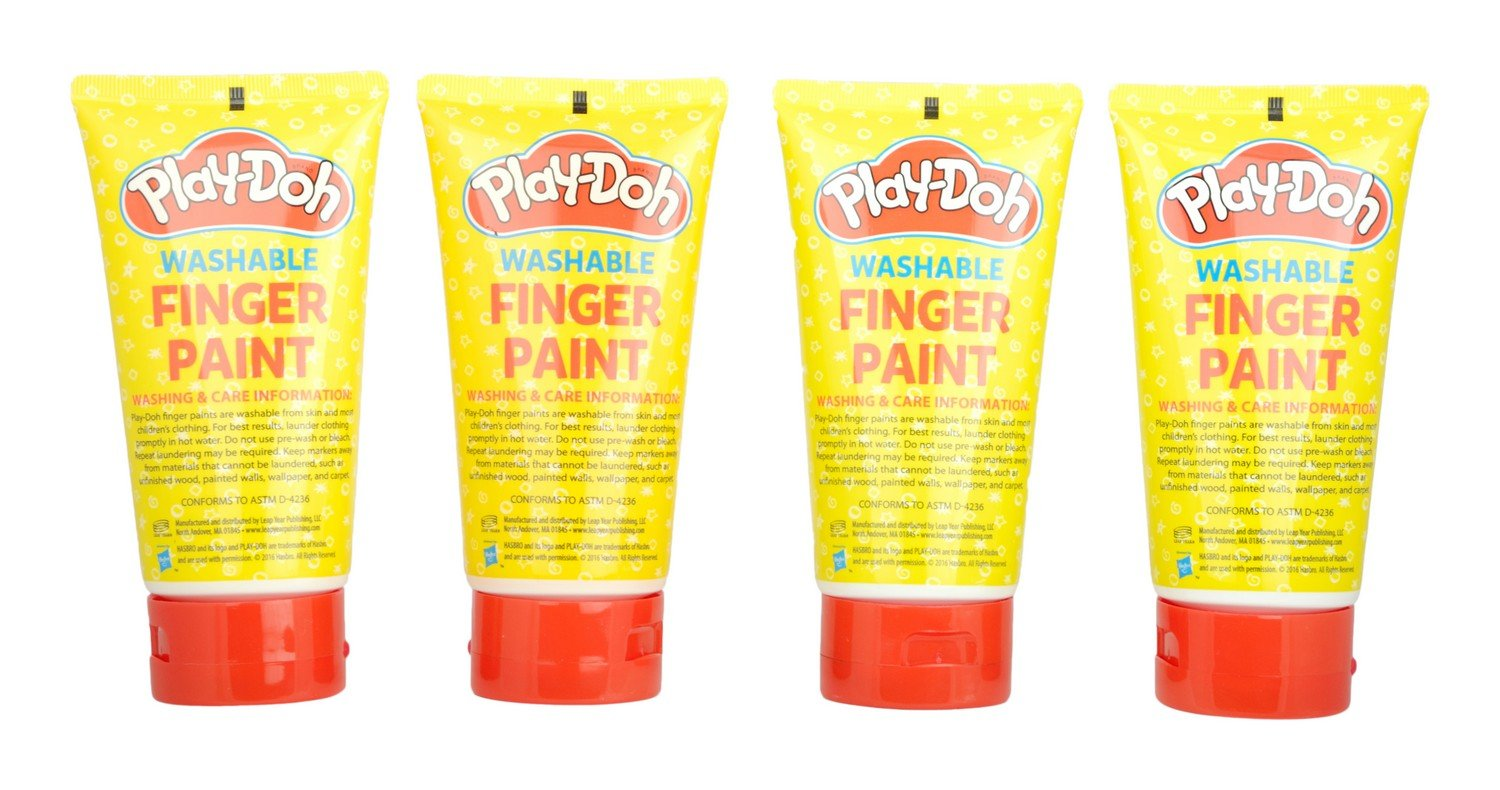 amazon play doh washable finger paint tubes 4 pack ねんど