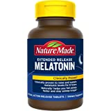 Nature Made Extended Release Melatonin 4mg Tablets, 90 Count to Naturally Help You Fall Asleep Faster and Stay Asleep Longer