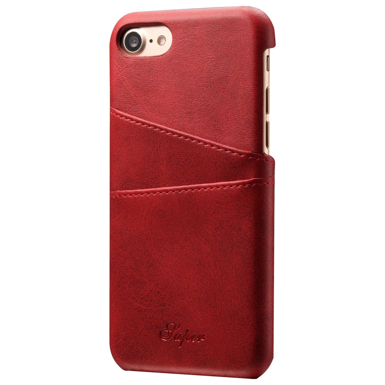Mens Wallet Leather Slim Card Back Holder iPhone 6 Plus/6S Plus Case Black case me CA015-iphone6P-Black