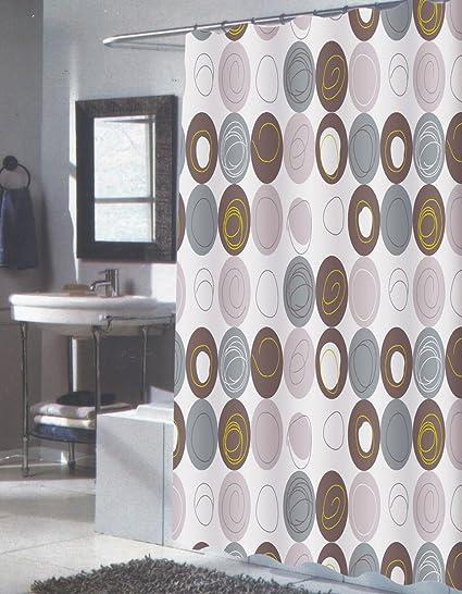 Amazon Royal Bath Modern Art Extra Long Circle Line Fabric
